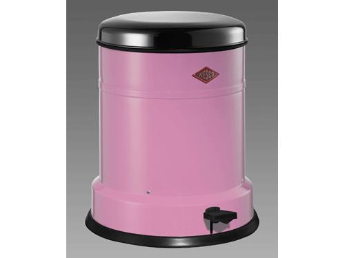 cubo basura rosa