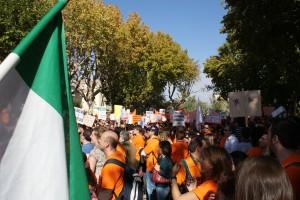 Manifestacion por la derogación DL 5/2010