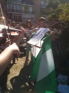 Violin y bandera