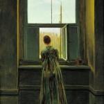 mujer ante la ventana