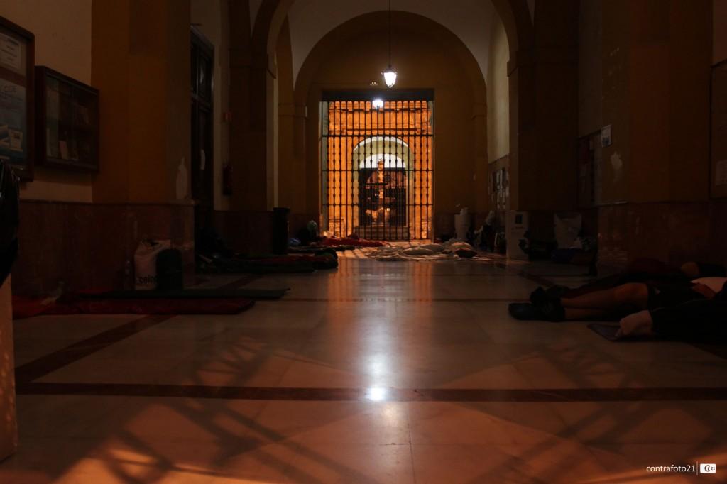 Uno de los pasillos habilitados para soñar