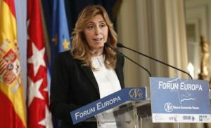 Susana Díaz durante la conferencia que impartió en el Foro Nueva Economía.