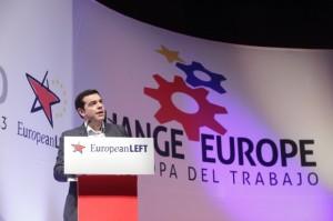 Alexis Tsipras, durante el congreso el último congreso del Partido de la Izquierda Europa.
